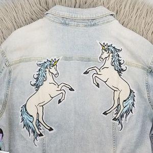 {New} NWT LuLaRoe Jaxon Unicorn Jean Jacket size S